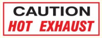 Caution Hot Exhaust
